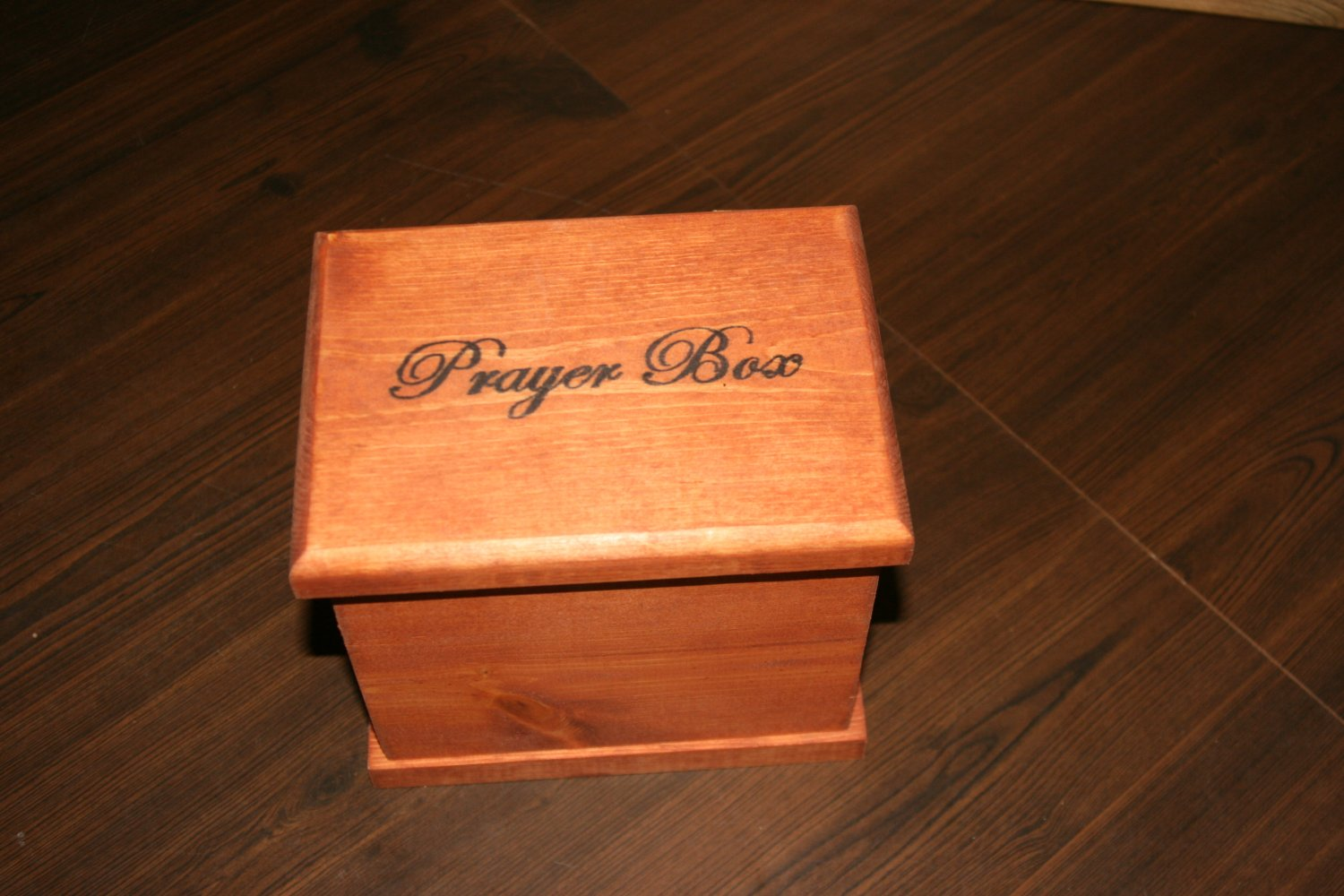 Unique Personalized Hand-Made Wooden Prayer Box// keepsake box 2