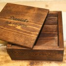 Unique Personalized Hand Made Wooden Anniversary Box / Wedding Box / Jewelry Box / Keepsake Box