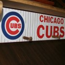 Unique Handmade Chicago Cubs Wooden Shelf