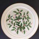 "LENOX china HOLIDAY Dimension Chop Plate Serving Platter - 12-3/4"", 24k trim"