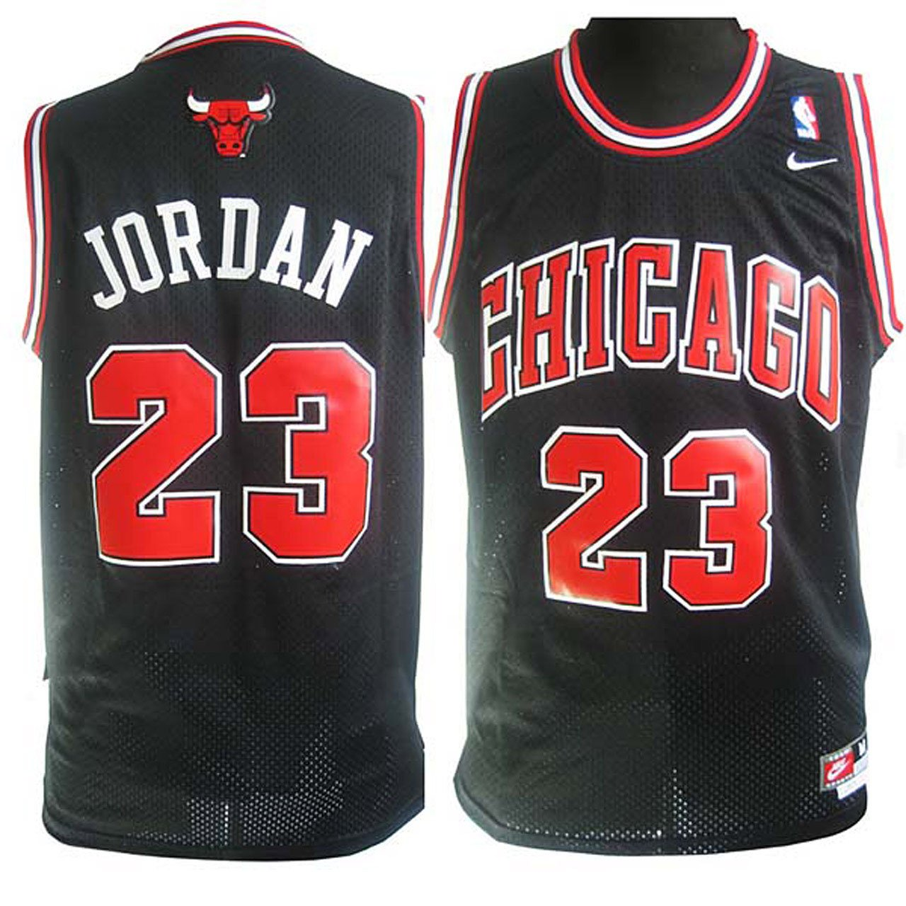 Michael Jordan Chicago Bulls #23 Soul Black Stitched Jersey
