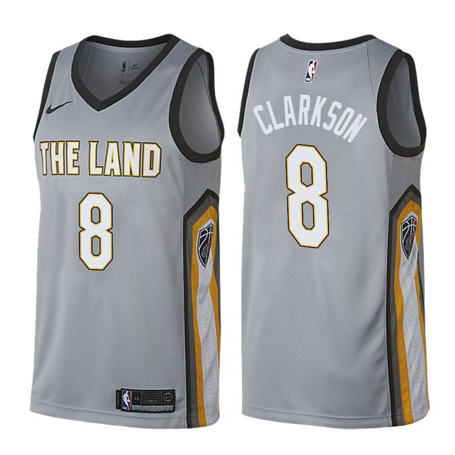 Cleveland Cavaliers Jordan Clarkson #8 Gray City Edition Jer