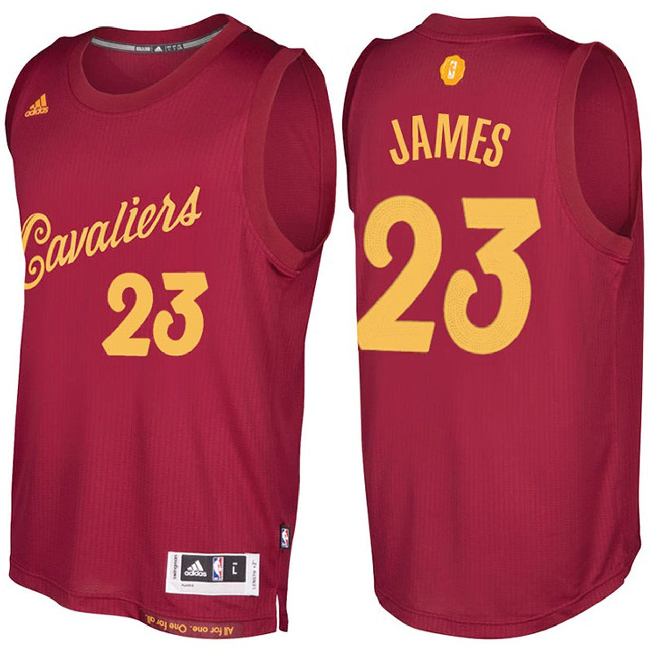 Cleveland Cavaliers LeBron James Burgundy Christmas Day Jers