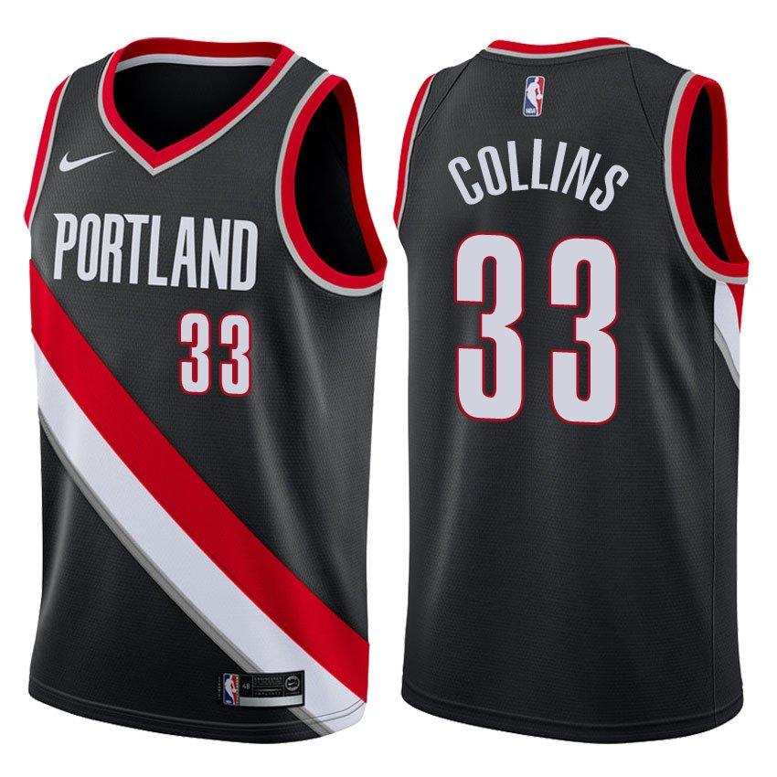 Zach Portland Trail Blazers: Portland Trail Blazers Zach Collins #33 Black Icon