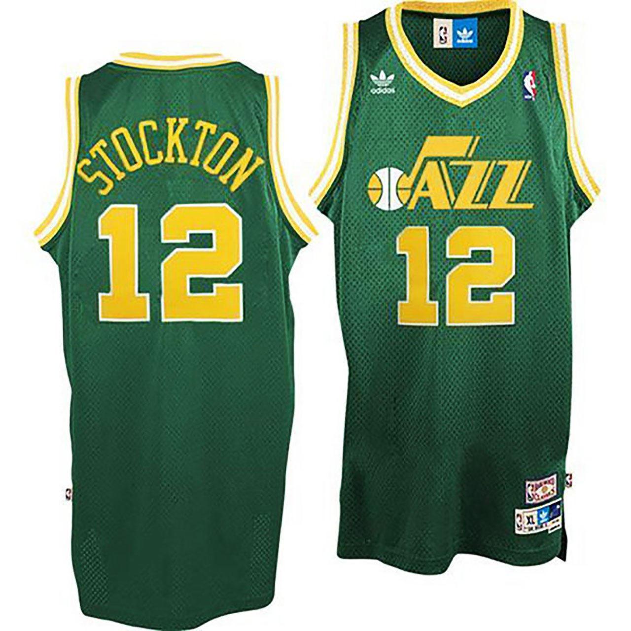 John Stockton Utah Jazz #12 Hardwood Classics Stitched Jerse