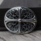S925 Sterling Silver jewelry Chrome Hearts Punk style cross belt buckle