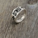 Chrome Hearts ring S925 Sterling Silver Simple style for men and women ring, lovers Cross rock ring