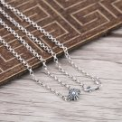Chrome Hearts Cross Round ball Pendant Necklace S925 Sterling Silver Cross rock Necklace