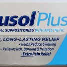 ANUSOL PLUS EXTRA PAIN RELIEF 2 BOX ANESTHETIC HEMORRHOID SUPPOSITORIES - 48 TOTAL