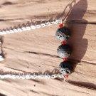 Lava rock aromatherapy necklace