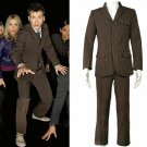Custom made Doctor Who Cosplay costume Doctor strip suit for men