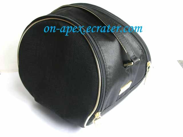 DIOR BLACK SILKY GILTED MAKEUP Pouch Bag Clutch New