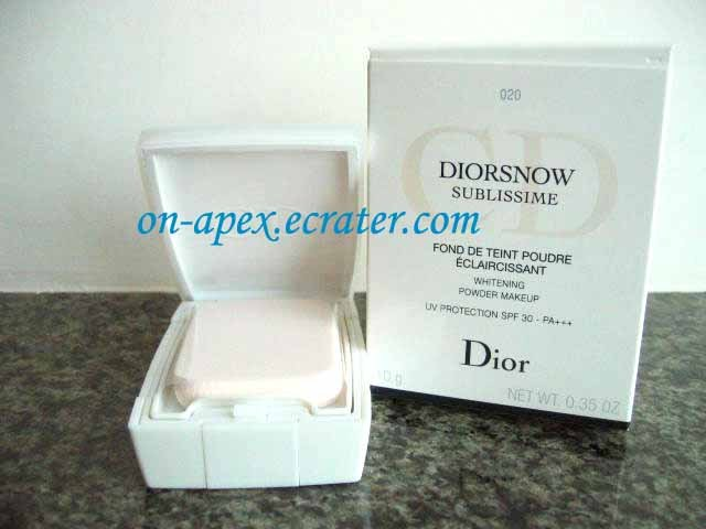 DIOR DIORSNOW SUBLISSIME Whitening Powder Makeup #020