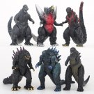 """Set of 6 Godzilla Action Figure 3"""" Movie Monsters Dinosaur Toy Can move joints"""