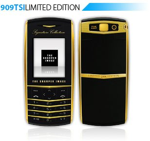 Sharper Image Platinum Gold 909TSIPlatinum Quad Band World Phone