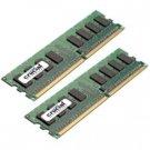 Crucial 2GB DDR2 SDRAM Memory Module CT2KIT12872AB667S