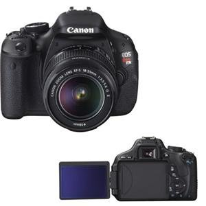 Canon EOS Rebel T3i 18 Megapixel Digital SLR Camera (Body with Lens Kit) - 18 mm-55 mm
