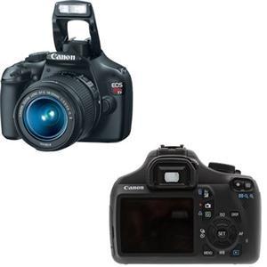 Canon EOS Rebel T3 12.2 Megapixel Digital SLR Camera (Body with Lens Kit) - 18 mm-55 mm