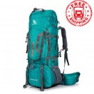 80L Outdoor Sport Travel Hiking Camping Backpack Big Rucksack Bag Waterproof