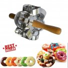 Rollving Heavy Duty Metal Donut Cutter Mold Doughnut Cake Bread Desserts Bakery