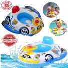 Swimming Ring Steering Wheel Inflatable Float Seat Boat Swim Pool Toys Baby Kids