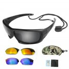 Men Goggles 3 Lens Replaceable Eyewear Cycling Fishing Brand New 2018 Sunglasses