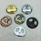 Car Halloween Skull Jack Car Logo Metal Pumpkin King Car Body Sticker Tail Tag Decorative Sticker