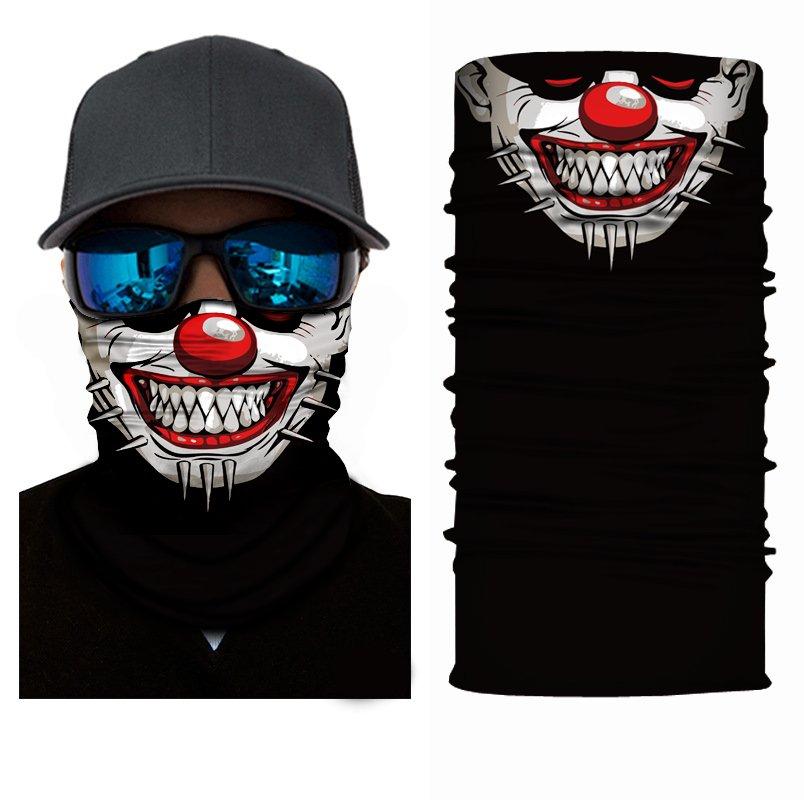 KLOWN/JOKER #1 Crazy Face Mask Cycling Scarf Bandanas Ski Winter Biker Mask