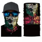 TWO FACE SKULL Crazy Face Mask Cycling Scarf Bandanas Ski Winter Biker Mask