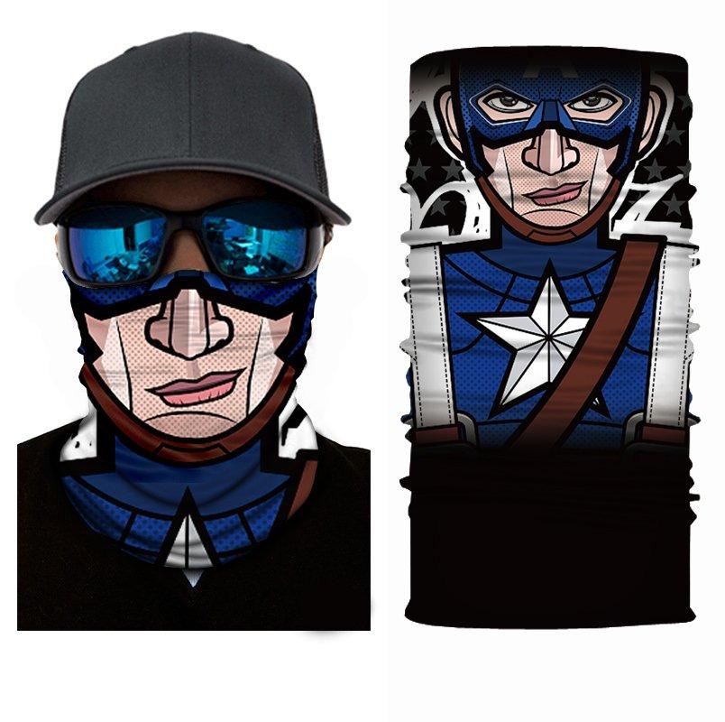 CAPETAN AMERICA #2 Crazy Face Mask Cycling Scarf Bandanas Ski Winter Biker Mask