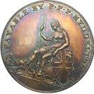 Souvenir USA 1796 Myddelton Token Brass Plated - FREE SHIPPING