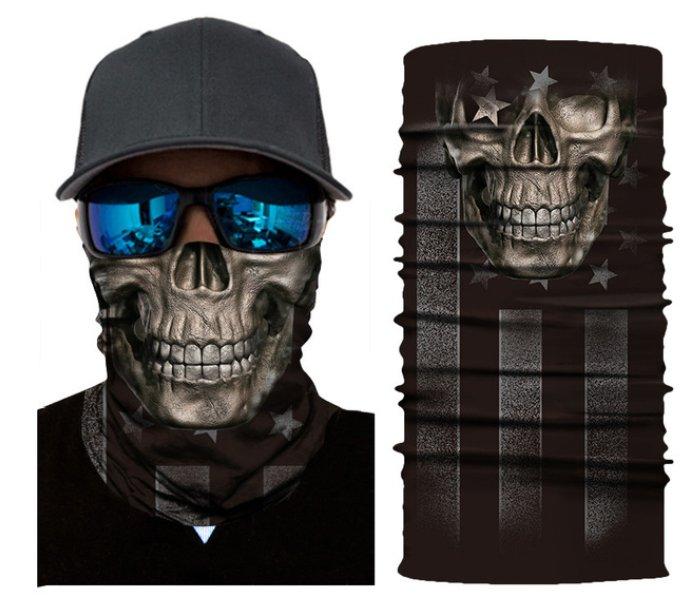 USA SKULL HEAD Crazy Face Mask Cycling Scarf Bandanas Ski Winter Biker Mask