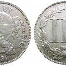 Souvenir USA 1889 USA 3 Cent Nickel - FREE SHIPPING