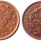 Souvenir USA Braided Hair Large Cent 1839 Copper - Free Shipping
