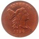 Souvenir USA 1796 Liberty Cup Half Cent Copper - Free Shipping