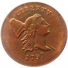 Souvenir USA 1797 Liberty Cup Half Cent Copper - Free Shipping