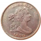Souvenir USA 1800 Draped Bust Half Cent  Copper - Free Shipping