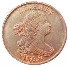 Souvenir USA 1802 Draped Bust Half Cent  Copper - Free Shipping