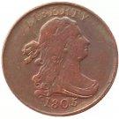 Souvenir USA 1805 Draped Bust Half Cent  Copper - Free Shipping