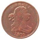 Souvenir USA 1806 Draped Bust Half Cent  Copper - Free Shipping
