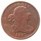 Souvenir USA 1807 Draped Bust Half Cent  Copper - Free Shipping