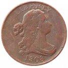 Souvenir USA 1808 Draped Bust Half Cent  Copper - Free Shipping
