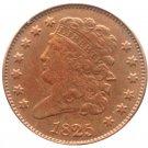 Souvenir USA 1825 Classic Head Half Cent  Copper - Free Shipping