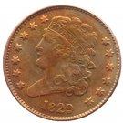 Souvenir USA 1829 Classic Head Half Cent  Copper - Free Shipping
