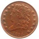 Souvenir USA 1833 Classic Head Half Cent  Copper - Free Shipping