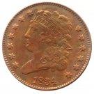 Souvenir USA 1834 Classic Head Half Cent  Copper - Free Shipping