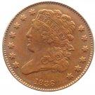 Souvenir USA 1836 Classic Head Half Cent  Copper - Free Shipping