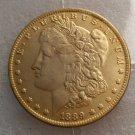 Souvenir 1889 CC Morgan Dollar Gold Plated - FREE SHIPPING