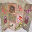 Birds, flowers and butterflies greeting card