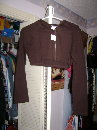 Brown cropped jacket sz m